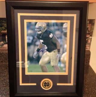 Manti Teo Autograph 8 X 10 Framed Matted Notre Dame Fighting Irish COA