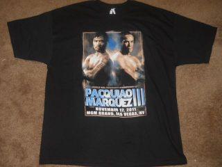 Manny Pacquiao vs Juan Marquez 3 MGM Grand Casino Las Vegas 2011 Shirt