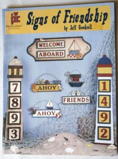 Signs Friendship Wood Pattern Craft Paint Book Nautical