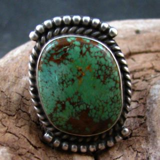 Herman Smith Sterling Silver Kings Manassa Turquoise Ring