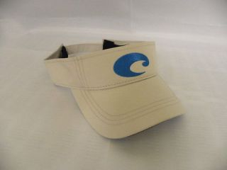 Costa Del Mar Performance Visor Hat White Pink Navy Bei