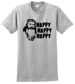 Robertson Happy Happy Happy Hunting T Shirt TV Show Many Color
