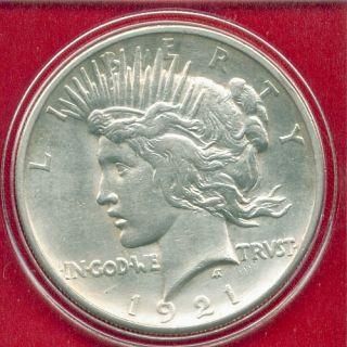 1921 P Peace Silver Dollar Rare Key Date High Grade PQ Stunner US Mint