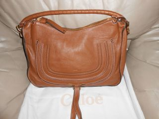 Authentic Pre Owned Chloe Marcie Tan Large Leather Hobo