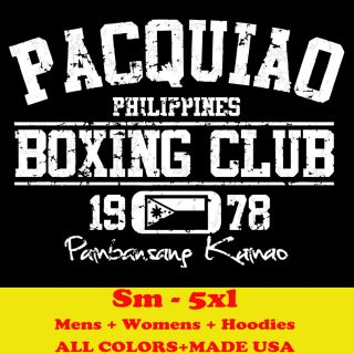 PACQUIAO MANNY BOXING CLUB auto logo glove filipino T shirt MENS