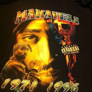 Tupac Makaveli Black Mens Shirt Size 5XL