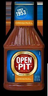 Open Pit Original BBQ Barbecue Sauce 42 oz Bottle Oct 2013
