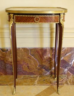 Magnificent 19c French Dore Bronze Marble Top Table