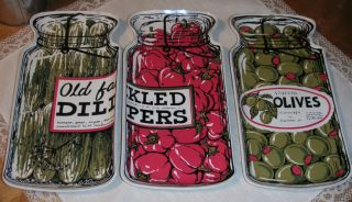 Condiment Serving Trays Pickled Peppers Stuffed Olives Dill