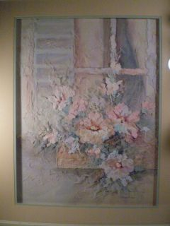 Hand Designed Flowers Window Fabric Art by Marcus R Tucker