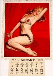 Marilyn Monroe Calendar Entrancing Pinup Litho Extremely Rare ~ 1954