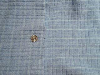Malden Mills Fleece 300 Series Light Blue Plaid Texture