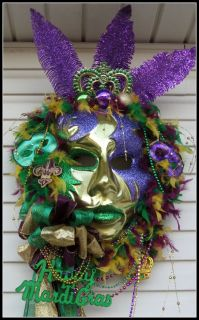 Petal Pushers Custom Made Mardi Gras Party Decoration Mask Beads