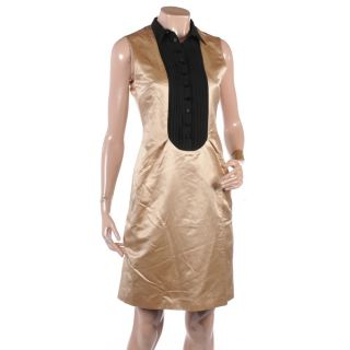 GS74 Malene Birger Black Gold Dress RRP £250 Size 6