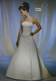 Mori Lee Bridal Wedding Gown Dress 8311 Sz 14