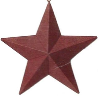 Retro Vintage Country Primitive METAL Barn STAR Sign Red Tin Wall