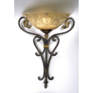Wall Sconce Lighting Fixture Walnut Bronze Patina Margaux Glass