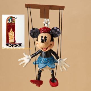 Disney Traditions Minnie Mouse Marionette Figurine Puppet Stand