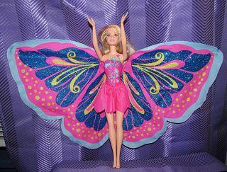 Barbie Doll Fairy tastic Fairytopia Mariposa Butterfly Wings Pink