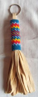 Beautiful New LAKOTA Sioux Beaded Keychain