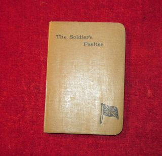 WW1 SOLDIERS PRAYER BOOK THE SOLDIERS PSALTER A GIFT FROM MARJORY 1917
