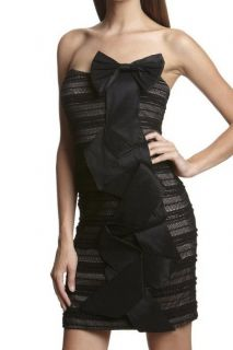 New Mark James by Badgley Mischka Black Strapless Coctail Dress Small
