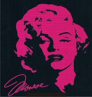 Pink Logo Marilyn Monroe Neon Movie Sexy Retro Classic Actress Celeb T
