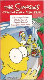 The Simpsons Bart Homer Marge Lisa Simpson 1991 Christmas Special VHS