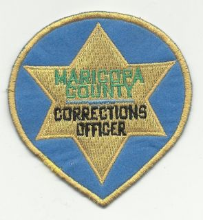 Maricopa County Arizona Corrections Officer Patch Vintage Style