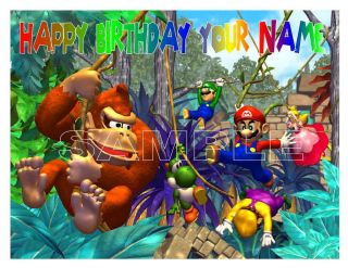 Super Mario Bros Donkey Kong Edible Cake Topper Image