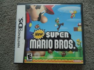 SUPER MARIO BROS NINTENDO DS empty BOX INSTRUCTION Game Cartridge CASE