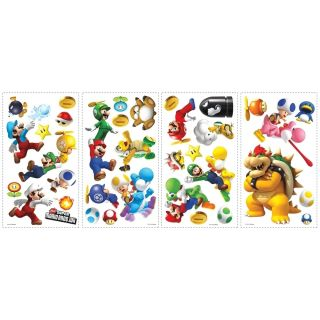 New Super Mario Bros Wii Decals Peel Stick Nintendo