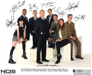 NCIS Cast 8 x 10 Autograph Reprint Mark Harmon Michael Weatherly 6