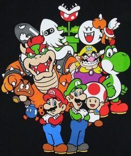 Nintendo Mario Luigi Yoshi Wario Funny Mens T Shirt XL