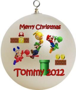 Personalized Super Mario Bro Ornament Toad Mario Luigi