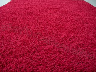 3x5 Area Rug Shaggy SHAG RED Carpet Over 1 inch Thick Fluffy New 39