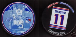 Mark Messier New York Rangers Retirement Night Puck 1