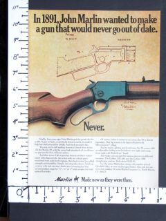 1975 Marlin Model 39 22 Rim Fire Lever Action Rifle Magazine Ad