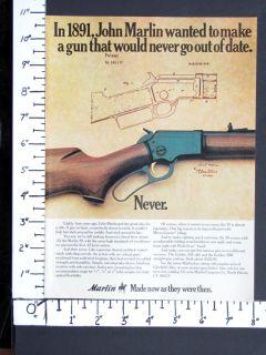 1975 Marlin Model 39 22 Rim Fire Lever Action Rifle Magazine Ad