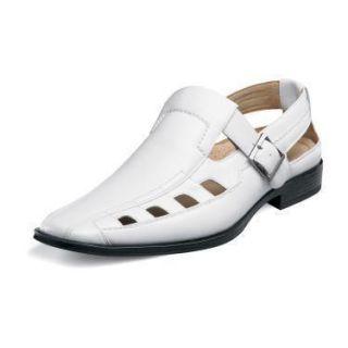 Stacy Adams Mens Marston White Dress Sandal 24731