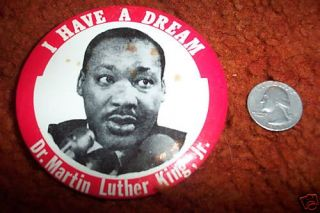 Martin Luther King 60s Original 3 1 2 Pin