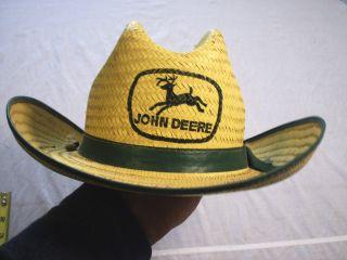 Old John Deere Straw Cowboy Hat Size Small