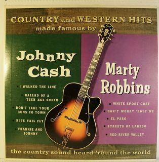 Johnny Cash Marty Robbins Country Western Hits Record