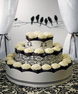 Wedding Love Bird Damask Display Cupcakes Stand Tower