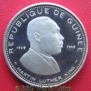 100 Francs Silver Proof Martin Luther King Mint 9 700 RARE 21mm