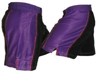 Purple Female Mixed Martial Arts MMA Shorts Female Fight Shorts
