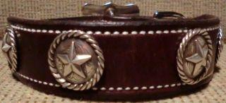 Custom Leather Dog Collar Size Medium 12 to 16