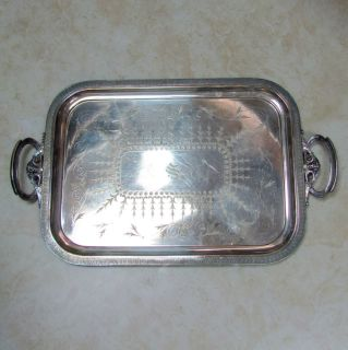 MFD PLATED By REED & BARTON Large Silverplate Tray w/ Bearded Wizard