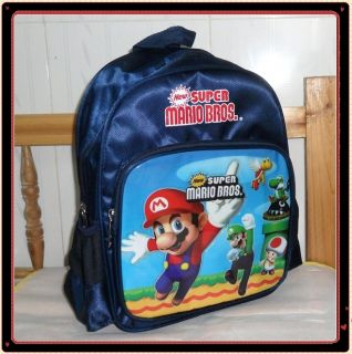 Super Mario Bros Backpack Child School Bag 2