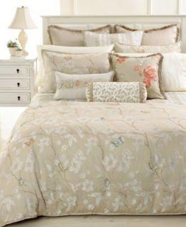 Martha Stewart Mariposa Meadow Full Queen Embroidered Duvet Cover